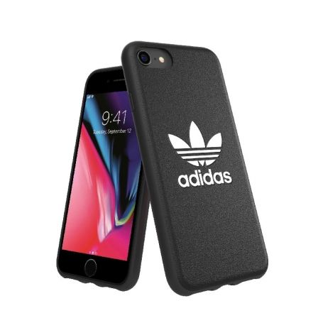 CARCASA ADIDAS MOULDED CASE BASIC FW 18 NEGRO/BLANCO - COMPATIBLE CON IPHONE 6/6S/7/8