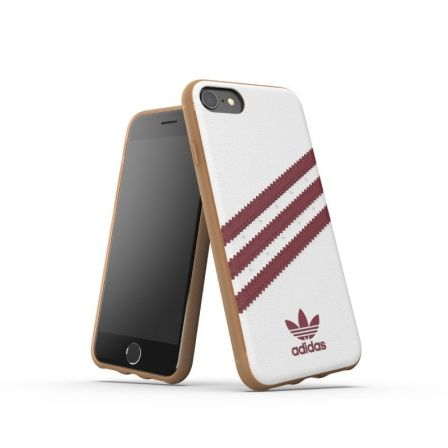 CARCASA ADIDAS ORIGINAL  STRIPES SAMBA SS19 BLANCO / BORDEAUX / BEIGE COMPATIBLE CON IPHONE 6 / 6S / 7/ 8