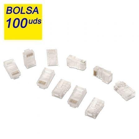 BOLSA 100 CONECTORES RJ45 AISENS A138-0292 - 8 HILOS - CAT.5E - AWG24