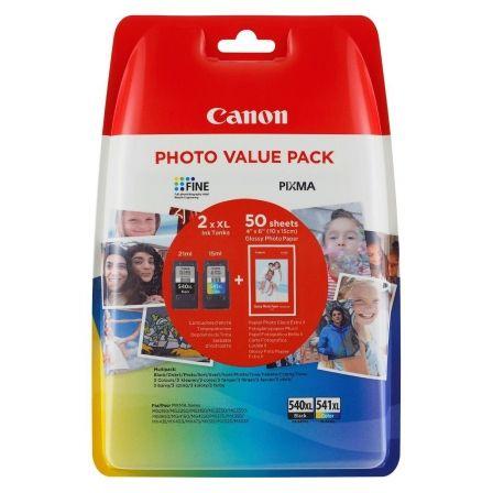 MULTIPACK 2 CARTUCHOS TINTA CANON - 1XPG-540XL + 1XCL541XL + 50 HOJAS 10X15CM GLOSSY PHOTO PAPER