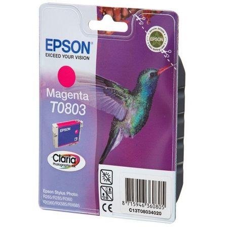CARTUCHO DE TINTA MAGENTA EPSON T0803 - 7.4ML - COLIBRI - COMPATIBLE SEGUN ESPECIFICACIONES