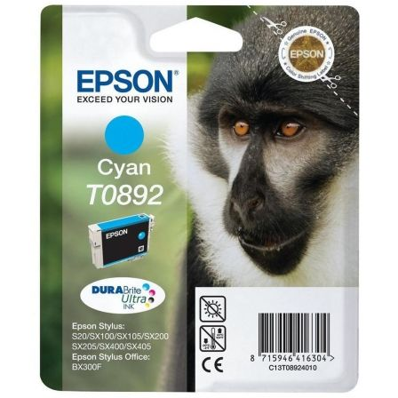 CARTUCHO TINTA CIAN EPSON T0892 - 3.5ML - MONO - COMPATIBLE SEGUN ESPECIFICACIONES