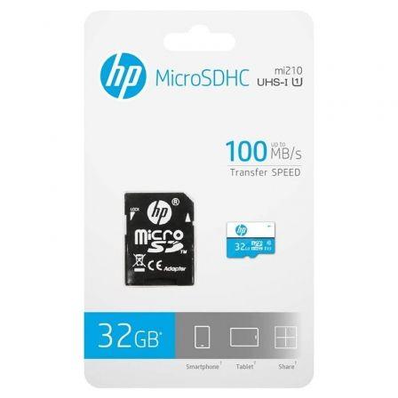 TARJETA MICROSD HC + ADAPTADOR HP HFUD032-1U1BA - 32GB - CLASE 10 - 100MB/S