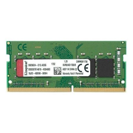 MEMORIA KINGSTON KVR24S17S8/8 - 8GB - DDR4-2400 - CL17 - 260 PINES - SODIMM