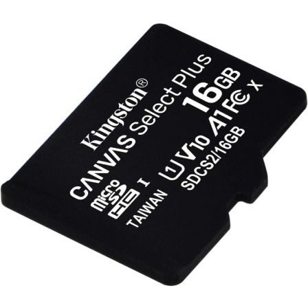 TARJETA MICROSD HC KINGSTON CANVAS SELECT PLUS - 16GB - CLASE 10 - 100MB/S