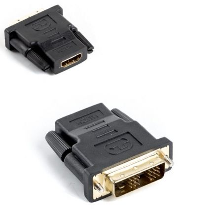 ADAPTADOR HDMI HEMBRA A DVI-D (18+1) MACHO LANBERG AD-0013-BK - ENLACE SIMPLE