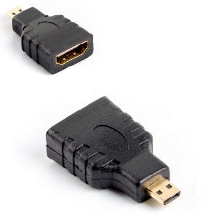 ADAPTADOR HDMI-A HEMBRA A MICRO HDMI-D MACHO LANBERG AD-0015-BK