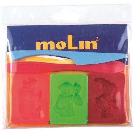 BOLSA CON 6 ACCESORIOS / MOLDES PARA PLASTILINA MOLIN PTL977-S - FORMAS SURTIDAS