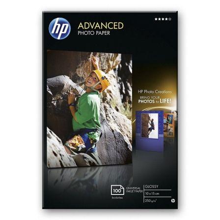 PAPEL HP FOTO GLOSSY ADVANCED SATINADO 10X15 CM 250 G/M2 100 (HOJAS)