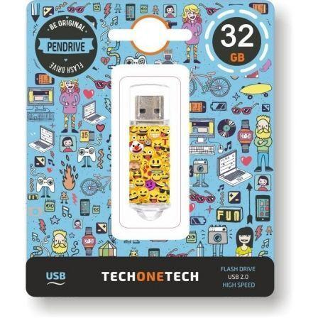 PENDRIVE TECH ONE TECH EMOJIS 32GB - USB 2.0