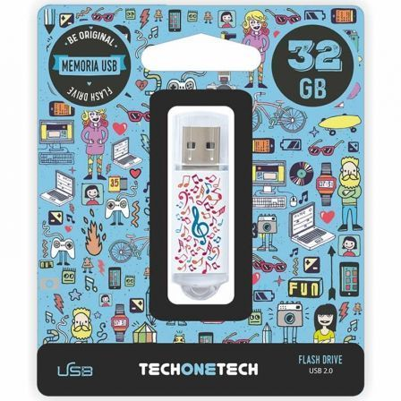 PENDRIVE TECH ONE TECH MUSIC DREAM 32GB USB 2.0