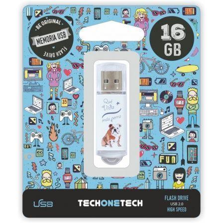 PENDRIVE TECH ONE TECH QUE VIDA MAS PERRA 16GB USB 2.0