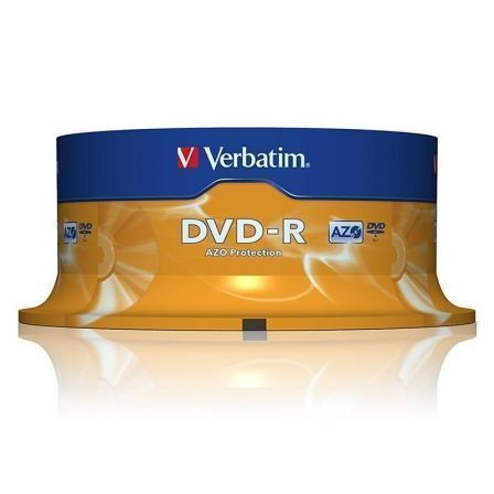DVD-R VERBATIM ADVANCED AZO 16X 4.7GB TARRINA 25 UNIDADES